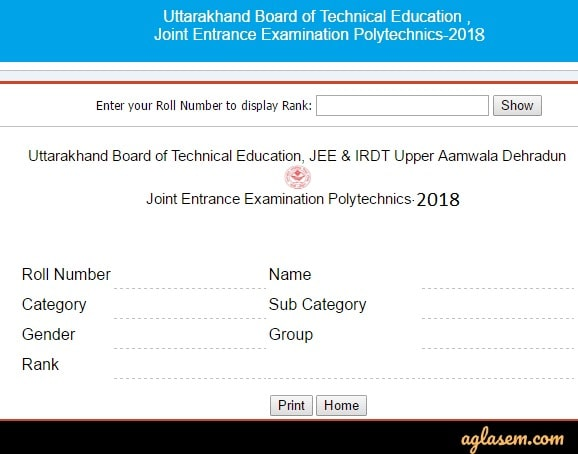Ubter Jeep 2020 Result Download Uttrakhand Jeep Rank Card