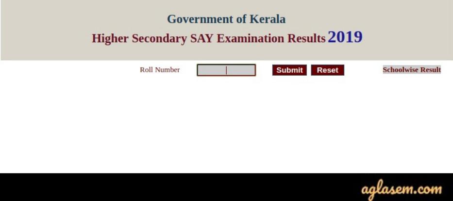 Kerala Improvement/SAY examination 2020