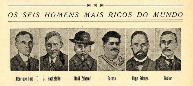 Os seis homens mais ricos do mundo em 1926 | The six richest men in the world in 1926