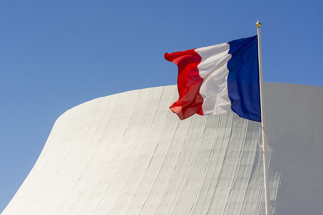 French flag and the
