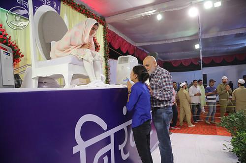Young devotees seeking blessings