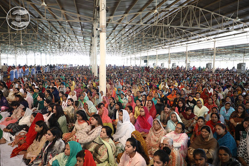 View of congregation during Vichar