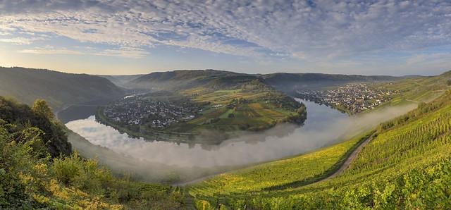 *Herbstmorgen an der Moselschleife Kröv II*