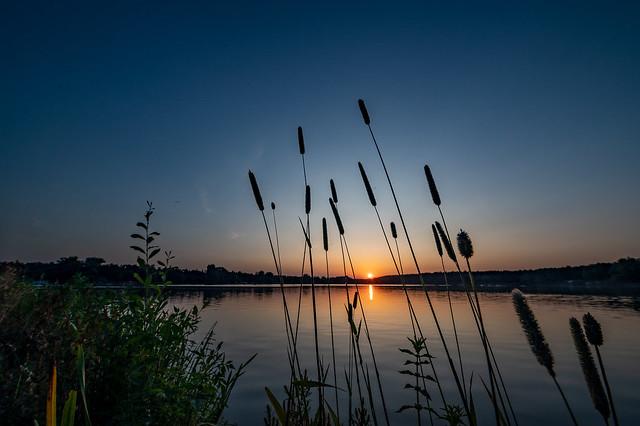 Sonnenuntergang am Dechsendorfer Weiher - 2831