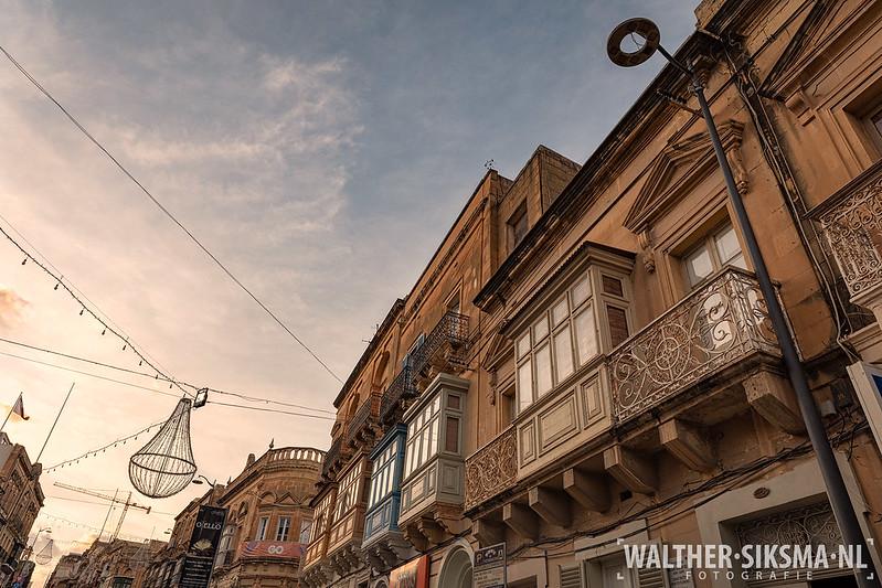 Typische balkons op Malta