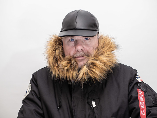 Leather baseball caps and parkas. . .