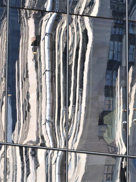 Chicago, Downtown Architecture, Fragmented Reflection