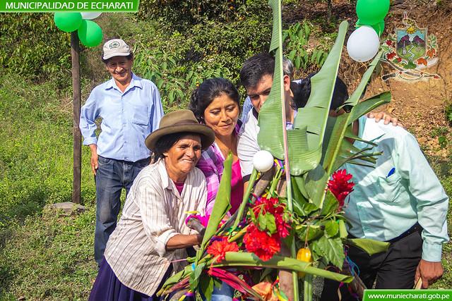 Municipalidad de Echarati inicio obra de mantenimiento de riego San Miguel