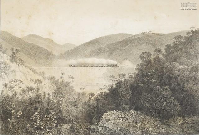 Aterro grande, perto do Túnel Grande ao lado do Sul [1864]
