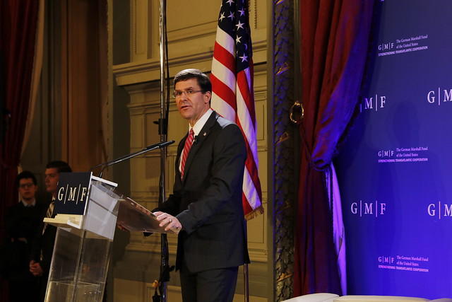 U.S. Defense Policy and NATO, the Way Forward - A Conversation with Mark T. Esper, U.S. Secretary of Defense