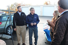 Energy & Technology Committee members Christopher Davis and Tim Ackert toured the new solar installation at USA Hauling in East Windsor. The product was managed by local solar company Earthlight Solar of Ellington. The panels power natural gas compressors to fuel their fleet of lower emissions CNG trucks.