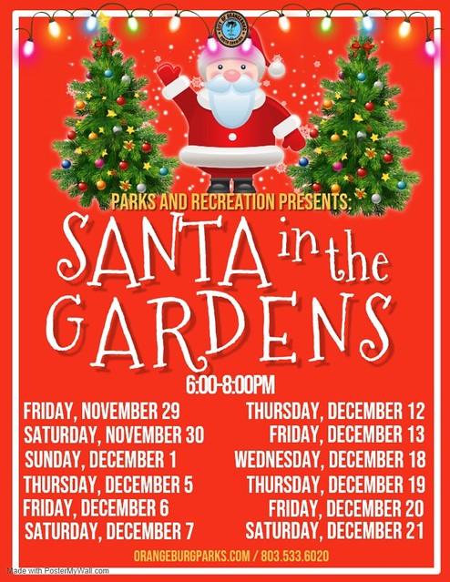 Santa in the Gardens