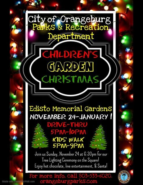 Childrens Garden Christmas Tree Lighting