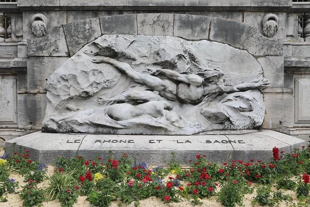 Allégorie du Rhône et de la Saône.