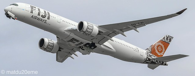 First Airbus A350-900 (Island of Viti Levu) for Fiji Airways