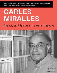 Mostra bibliogràfica sobre la biblioteca de Carles Miralles