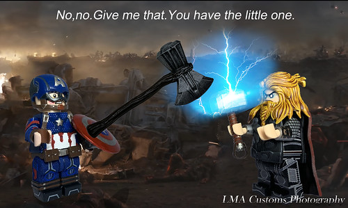 "[PS] MOC Lego Avengers:Endgame ""Thor and Cap"" Scene"