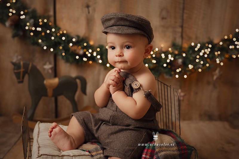Sesiones de fotos de Navidad para bebés