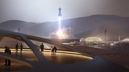 Starship | Artist Rendering | by Official SpaceX Photos