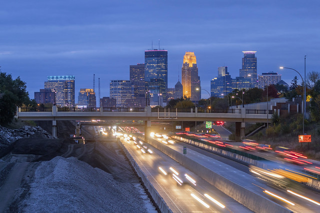 Minneapolis over 35W Traffic and Construction