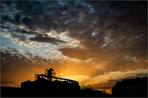 Sunset over Riesa | by :: Blende 22 ::