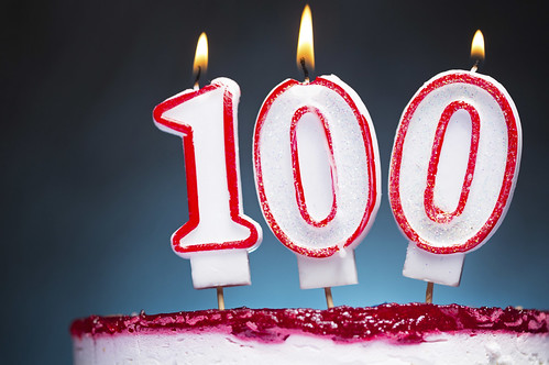 100th Birthday candles