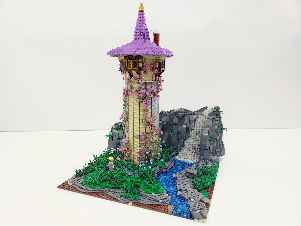 Rapunzel's Tower   Built for my soon to be 8 year old daughter.  Follow me on Instagram here: https://www.instagram.com/lego.scape.sculpture/