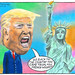 Trump - Statue of Liberty Cartoon