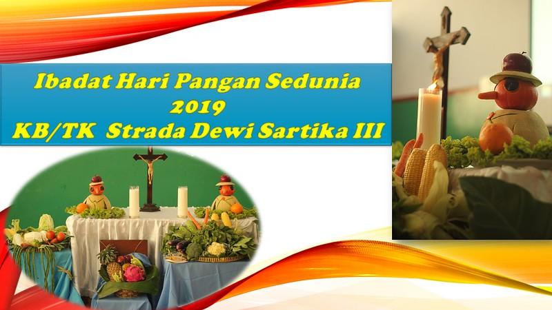 Ibadat Hari Pangan Sedunia TK Strada Dewi Sartika III