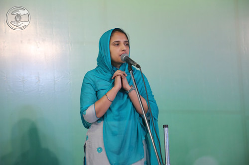 Navpreet Heer Ji presented speech in English