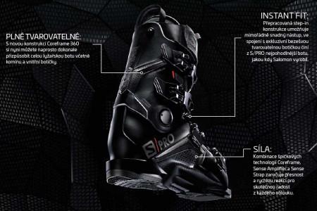 Lyžařské boty Salomon S/PRO: Přesné, výkonné, lehké