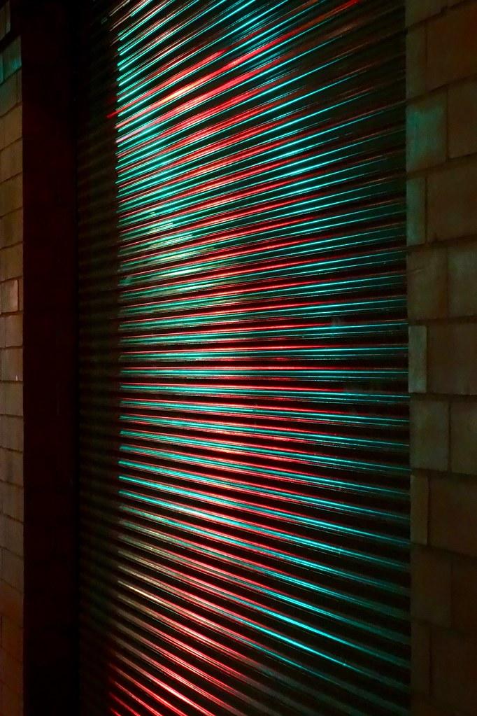 Radial light pattern, Calgary, Alberta, Canada