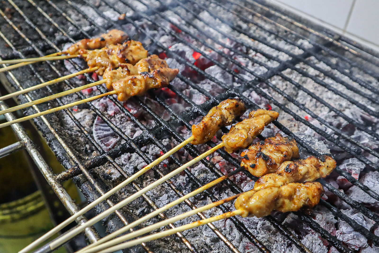 barbequeing satay 2