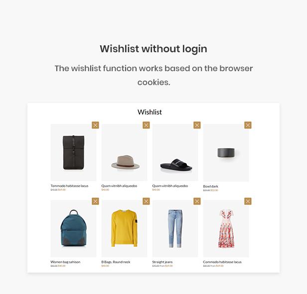 Ap 2020 Free Shopify eCommerce Theme - wishlist without login