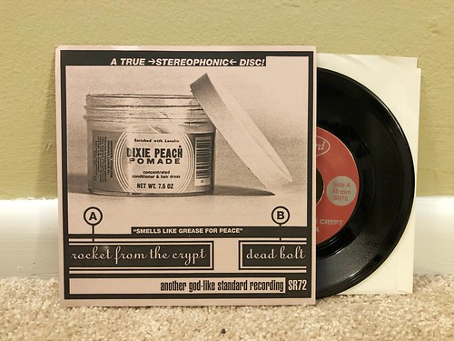 """Rocket From The Crypt / Dead Bolt - Split 7"""" - Pink Cover"""