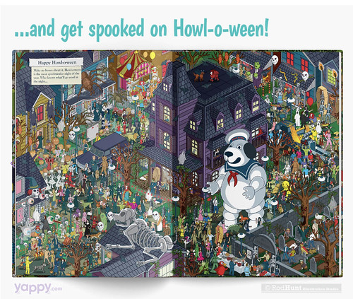 Happy Howl-o-ween -Where's Your Dog? Personalised Search and Find Picture Book illustrated by Rod Hunt