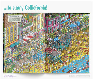 Colliefornia Love - Where's Your Dog? Personalised Search and Find Picture Book illustrated by Rod Hunt