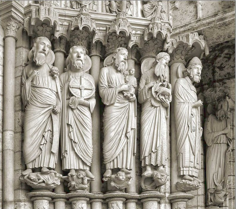 045 Шартр. Скульптуры северного портала
