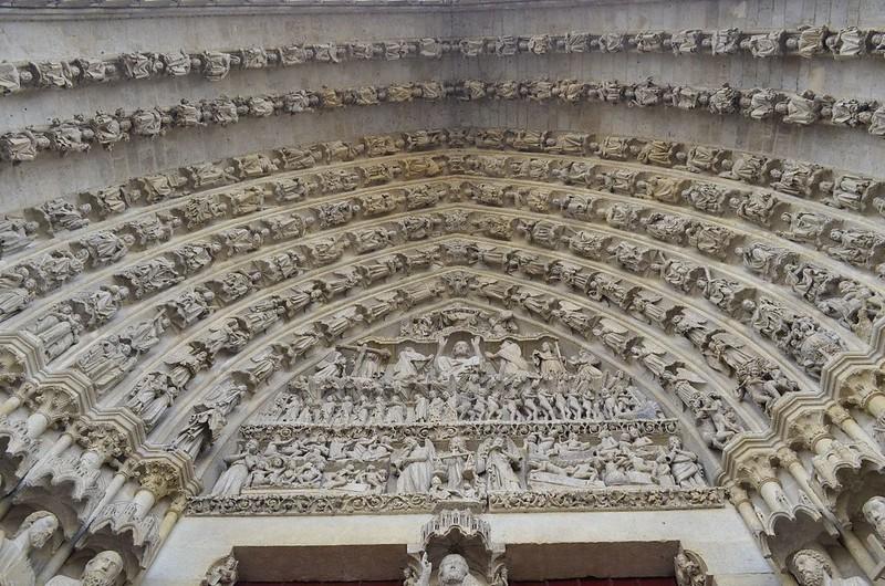 109а Архивольты центрального портала Амьенского собора