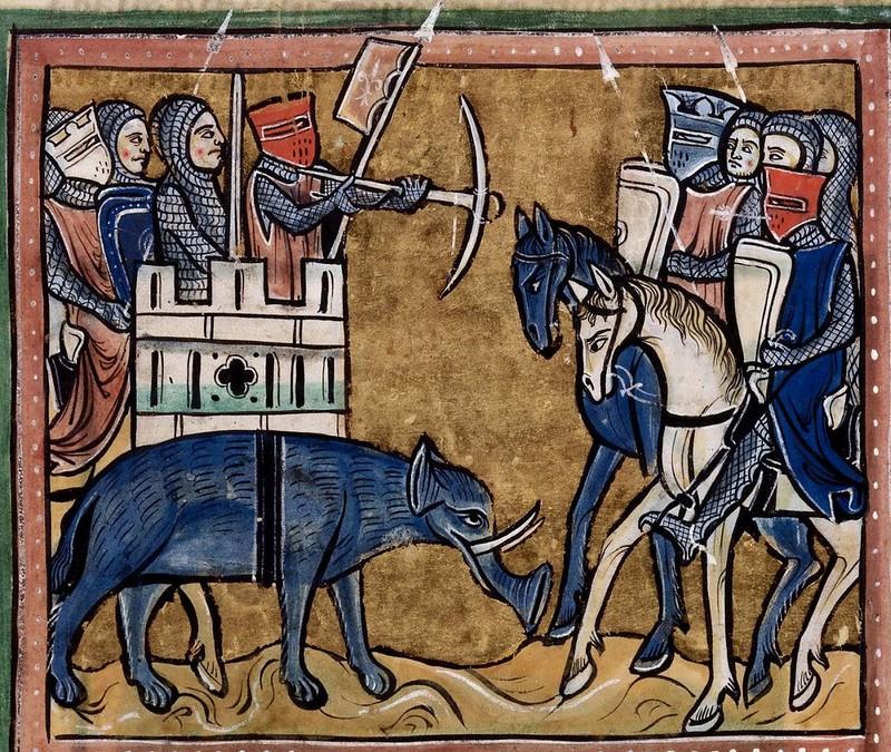 188 Рочестерский бестиарий Южная Англия, 1225-1250 Британская библиотека