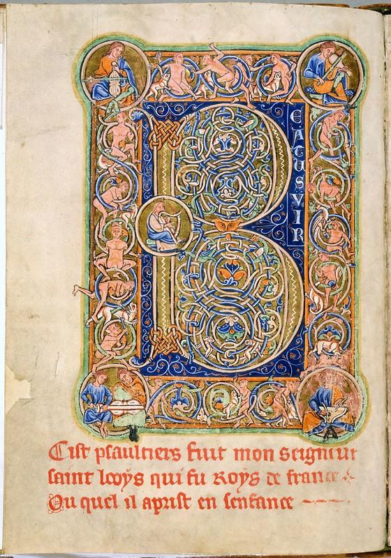 185 Королевская Псалтирь Северная Англия, 1190-1200. Лейден