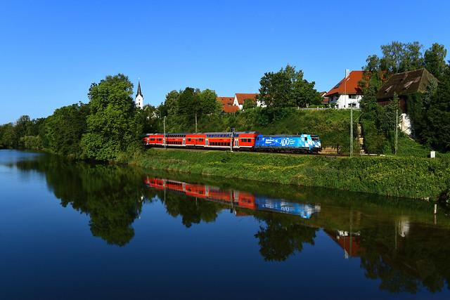 146 245-6 I DB I 100 Jahre Freistaat Bayern I Volkmannsdorf (8874)