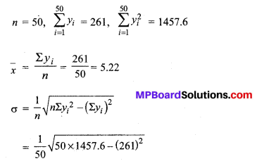 MP Board Class 11th Maths Solutions Chapter 15 सांख्यिकी Ex 15.3 13