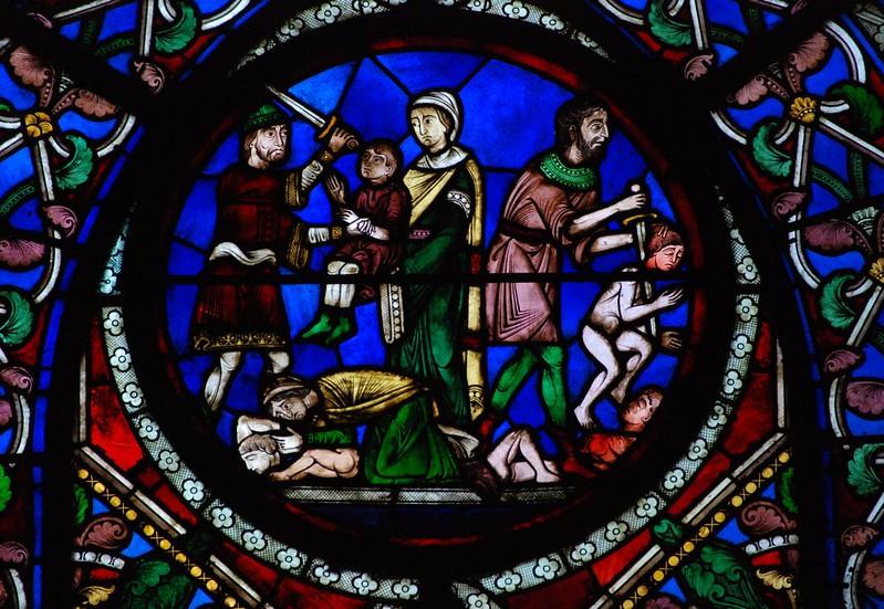 017 Витраж Сен-Дени XII в. Капелла св. Маврикия Избиение вифлеемских младенцев