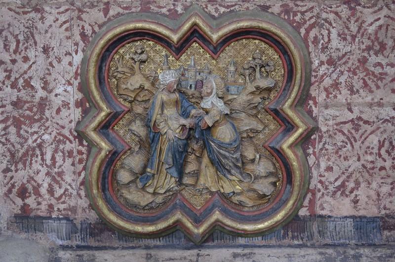118 Встреча Марии и Елизаветы фрагмент ограды хора