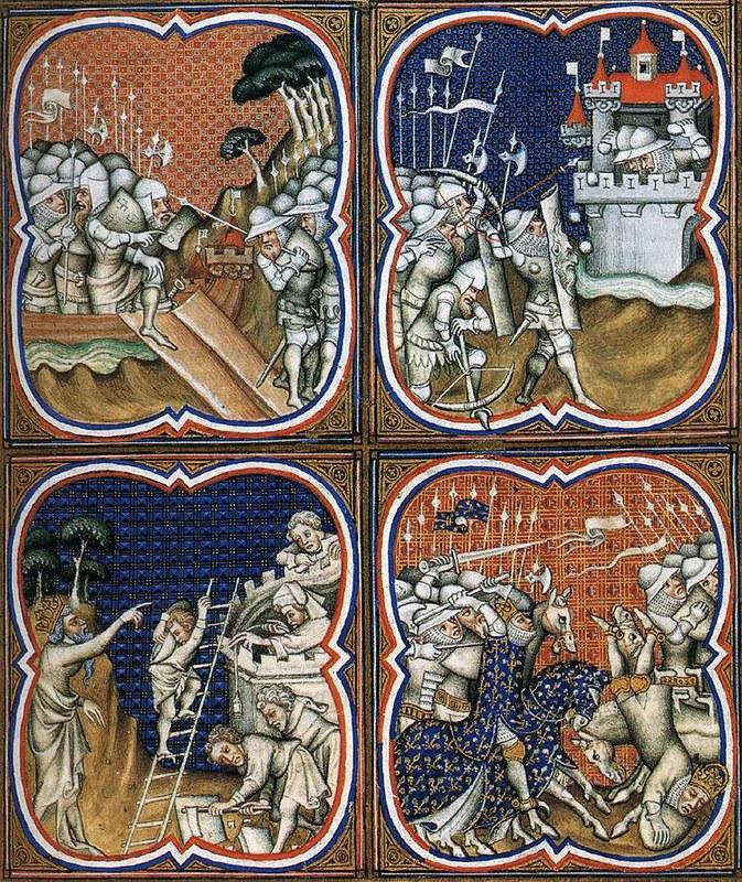 191 Grandes Chroniques de France Троянская война  de Charles V 1375-80