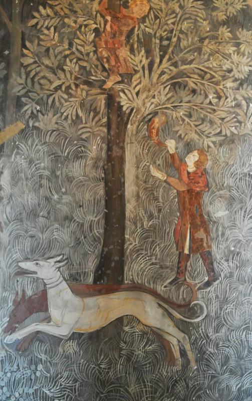 179 Фреска в папском дворце в Авиньоне 1343