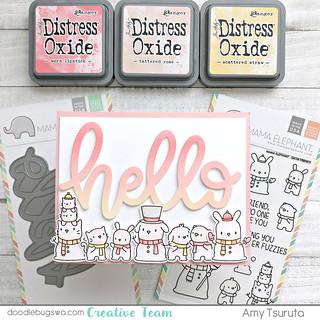 hello distress oxide by Amy Tsuruta for doodlebugswa.com