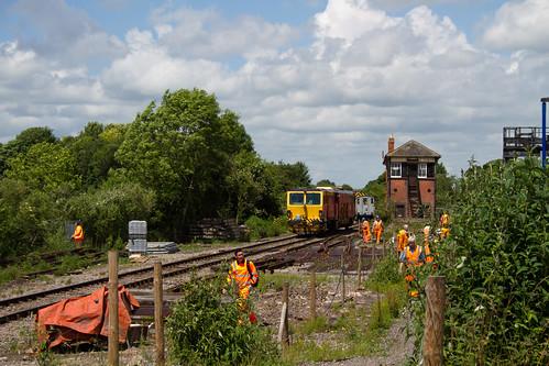 Working on Platform 4 at Princes Risborough
