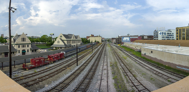 Looking North-east from the Gay St. Viaduct, Knoxville, TN